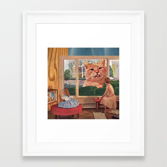 Why, Mr. Whiskers, Why? Framed Art Print