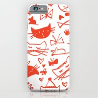 Cats In Red iPhone 6 Slim Case