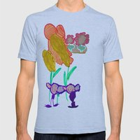 Happy To Be Purple Mens Fitted Tee Athletic Blue SMALL