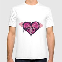Love Skulls Redux Mens Fitted Tee White SMALL