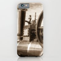 iPhone Cases featuring Clayton And shuttleworth Traction engine by David Pyatt