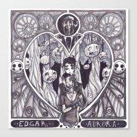 Edgar & Aurora Canvas Print