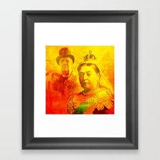 Queen Victoria and Churchill Framed Art Print