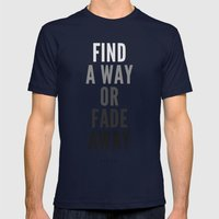 Fade Away Mens Fitted Tee Navy SMALL