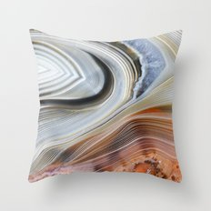Marble Lined Throw Pillow