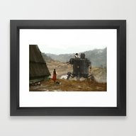 Framed Art Print featuring 1920 - Soup Is Waiting by Jakub Rozalski