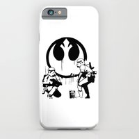 iPhone Cases featuring Banksy Troopers by Don Calamari