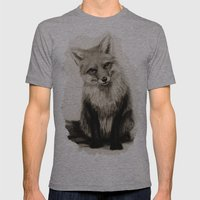 Fox Say What?! Mens Fitted Tee Athletic Grey SMALL