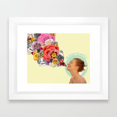 feeling energetic Framed Art Print