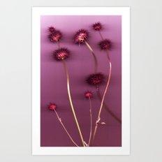 Purple Chia Art Print
