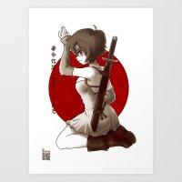 Swordsgirl Art Print