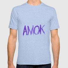 Amok Mens Fitted Tee Athletic Blue SMALL