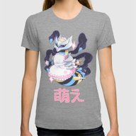 Moe Giratina Womens Fitted Tee Tri-Grey SMALL