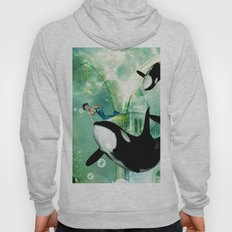 Orca with mermaid Hoody