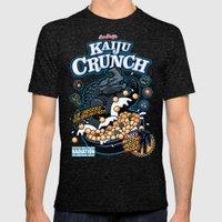 Kaiju Crunch Mens Fitted Tee Tri-Black SMALL