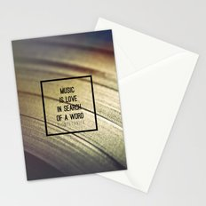 Music Is Stationery Cards