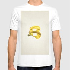 B. SMALL Mens Fitted Tee White