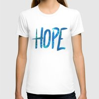 Hope Womens Fitted Tee White SMALL