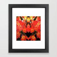 Flowers with Raindrops Framed Art Print