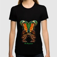Drawing By Reeve Wong Womens Fitted Tee Black SMALL