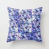 Prayer Prism (blue) Throw Pillow