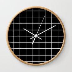 Grid (White/Black) Wall Clock