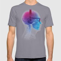 Electronic Music Fan Mens Fitted Tee Slate SMALL