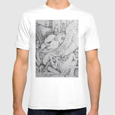 Griffen White Mens Fitted Tee SMALL