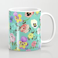 Roses And Pansies Mug