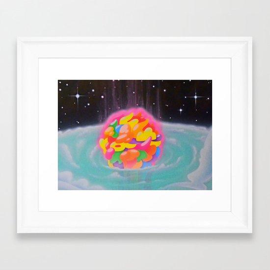 """SPACE INFLATION"" Framed Art Print"