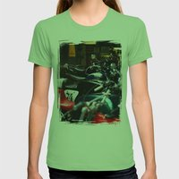 Motorcycles Womens Fitted Tee Grass SMALL