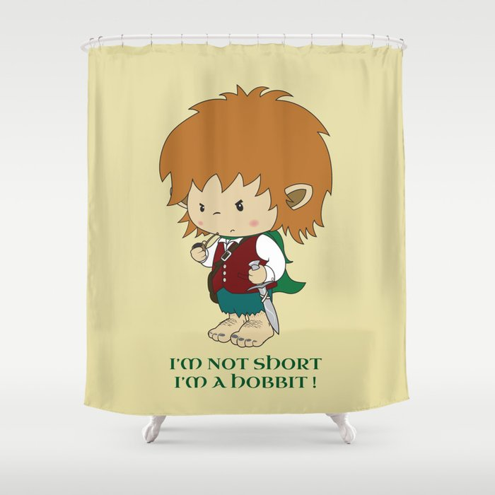 i 39 m not short i 39 m a hobbit shower curtain by mangulica
