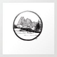Enjoy the mountains Art Print