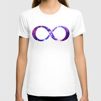 Galaxy. Womens Fitted Tee White SMALL