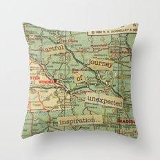 Artful Journey Throw Pillow