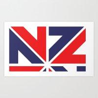 ENZED Art Print