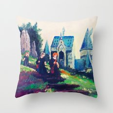 Off to Hagrids Throw Pillow