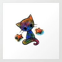 Cosmic Kitty Art Print