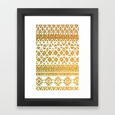 GOLDEN TRIBAL Framed Art Print