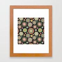 Folky Flora Framed Art Print