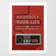 Control Your Life By You… Art Print
