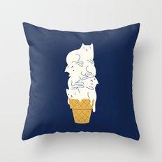 Meowlting Throw Pillow