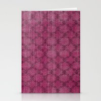 Overdyed Rug 1 Crushed Berry Stationery Cards