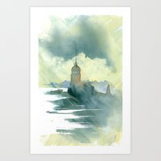 Maiden's Tower, Istanbul Art Print