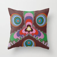 Psychedelic Eyes Throw Pillow