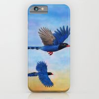 iPhone & iPod Case featuring Taiwan Blue Magpies (2) by Amy Fan