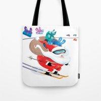 Santa Skiing 1 Tote Bag