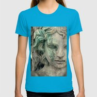 An Angel Cries Womens Fitted Tee Teal SMALL
