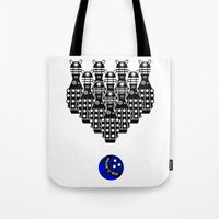 Time for Bowling. Doctor Who. Tote Bag
