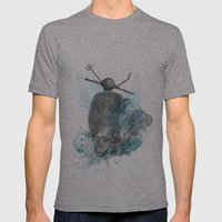 VESPA From The Retro Pro… Mens Fitted Tee Athletic Grey SMALL